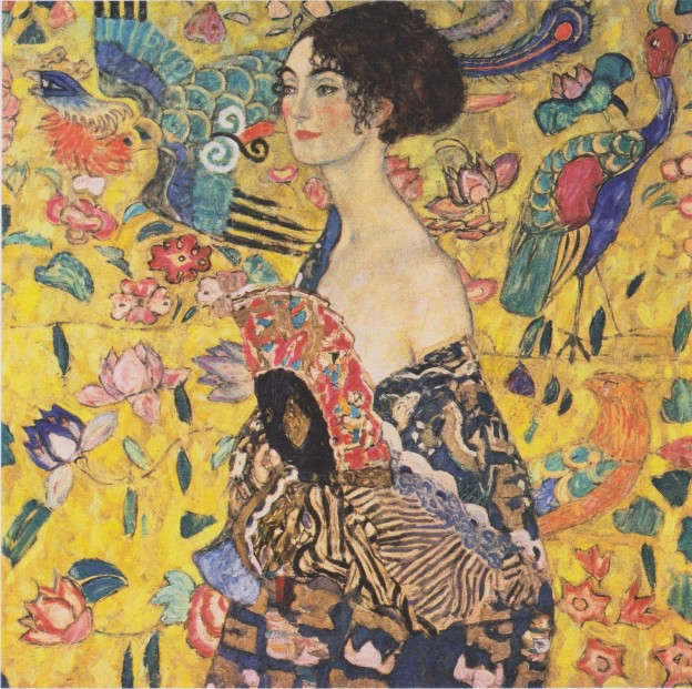 Femme à l'éventail – Gustav Klimt, 1918