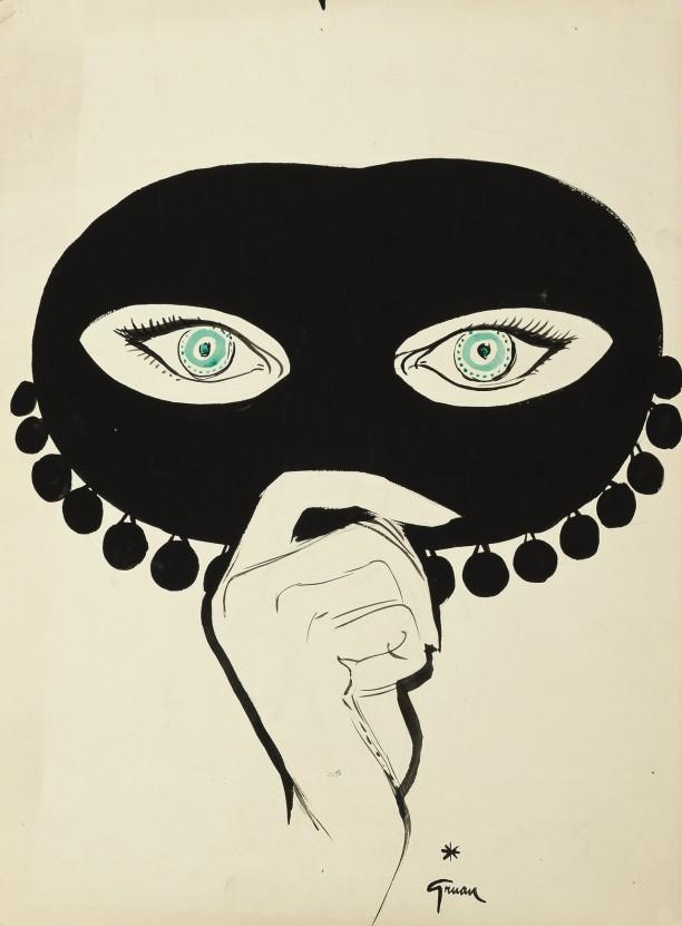 Le profit des masques pour la personne du caviar rouge