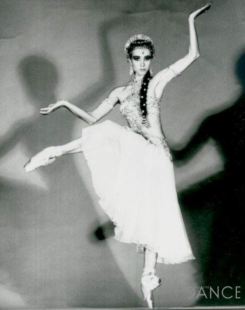 """Sylvie Guillem as Nikiya in The Royal Ballet's producrion of """"LaBayadère."""" Photo courtesy of Dance Magazine."""